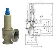 A42H-25C全啟式安全閥-禹軒氫氣安全閥供應