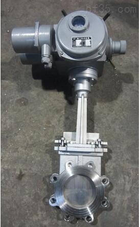 上海乾仪刀闸阀PZ973H-10P 不锈钢刀型闸阀