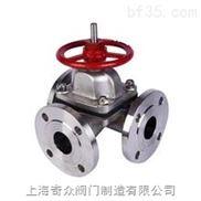 G49J(襯膠)三通隔膜閥  (襯膠)三通隔膜閥