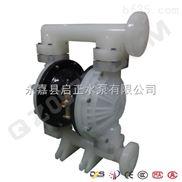永嘉 启正水泵 供应 QBY二氟塑料气动隔膜泵