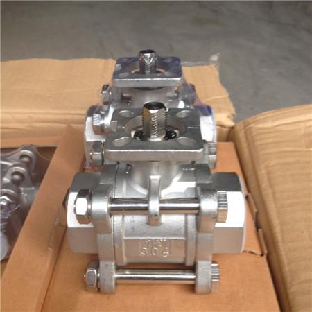 iso5211平台球阀 gq11f/gq61f-1000wog内螺纹/焊接三片式高平台球阀图片